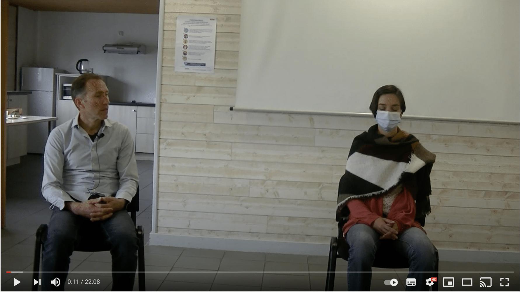 Démonstration induction d'hypnose boucle sensorielle